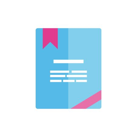 Isolated document icon flat vector design