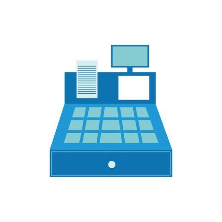 Cash register design, Money finance commerce market payment invest and buy theme Vector illustration