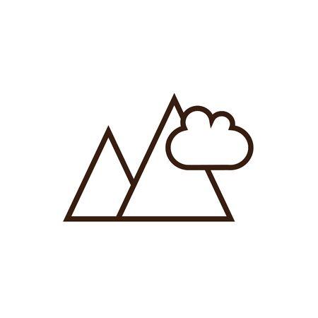 Mountain design, Landscape nature outdoor beautiful season travel and vacation theme Vector illustration