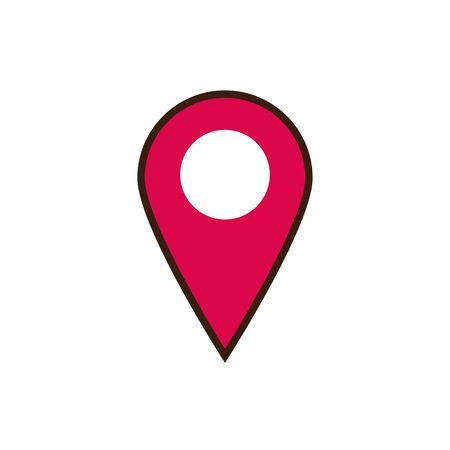 Isolated gps mark line and fill vector design