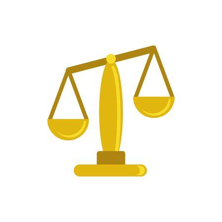 Isolated law balance flat vector design Illusztráció