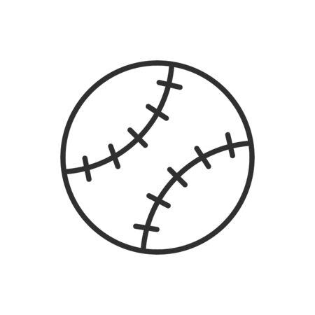 Isolated ball of baseball flat vector design