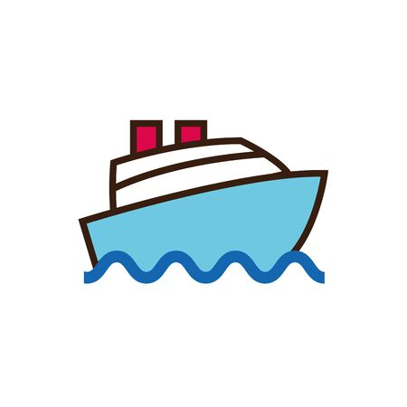 Isolated ship line and fill vector design Иллюстрация