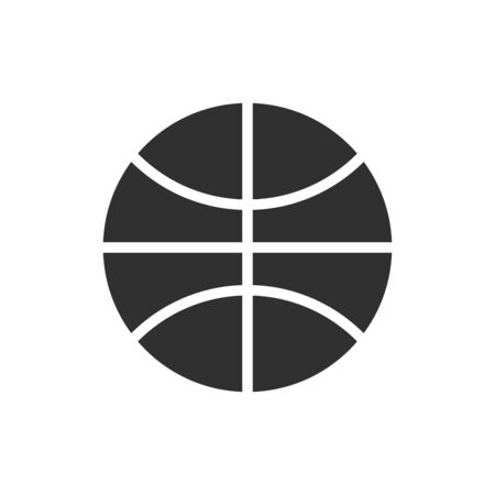 Isolated ball of basketball flat vector design Ilustração