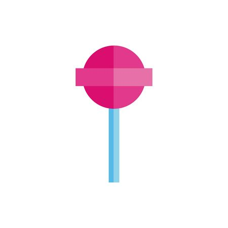 Sweet and delicious candy flat vector design  イラスト・ベクター素材
