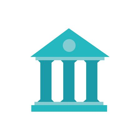 Isolated bank icon flat vector design