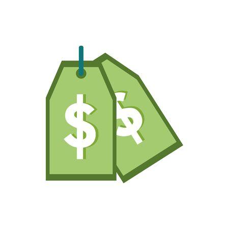 Isolated money label icon flat vector design