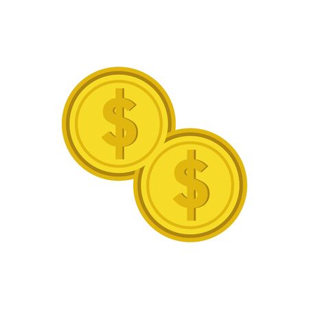 Isolated coins icon flat vector design