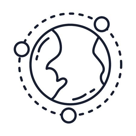 Isolated world sphere line vector design
