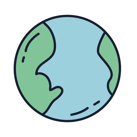 Isolated world sphere fill vector design