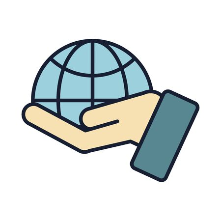 Global sphere icon design, World communication internet connectivity web technology and social media theme Vector illustration