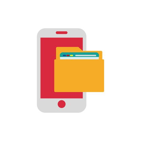 Isolated smartphone icon flat vector design