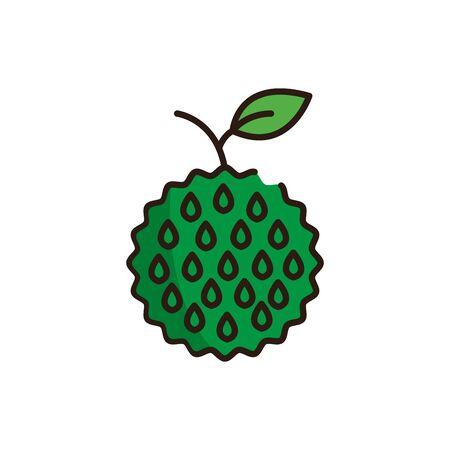 Isolated custard apple icon fill vector design
