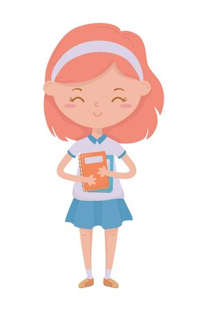 Girl kid design, School education learning knowledge study and class theme Vector illustration 일러스트