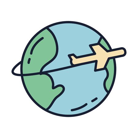 World sphere design, Planet continent earth world globe ocean and universe theme Vector illustration Çizim