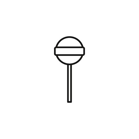 melted lollipop sweet and candies icon line illustration