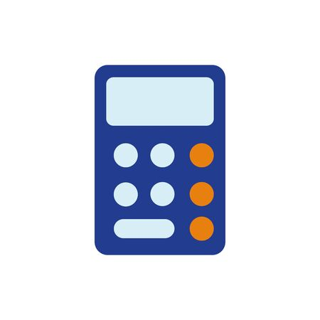 Calculator design, Tool mathematics finance device electronic education and office theme Vector illustration