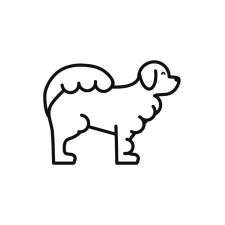 Dog icon design, Mascot pet animal nature cute and puppy theme Vector illustration