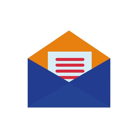 Isolated envelope icon flat vector design