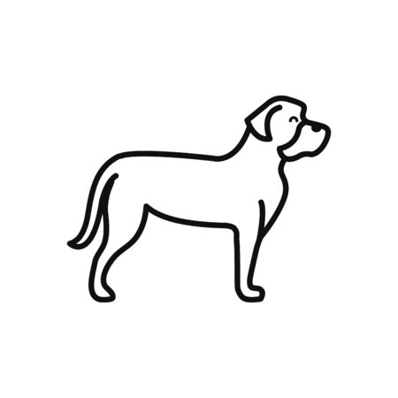 Isolated dog icon line vector design