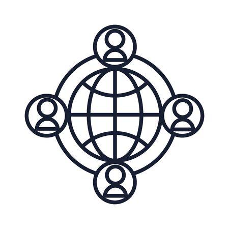Isolated global sphere line vector design 向量圖像
