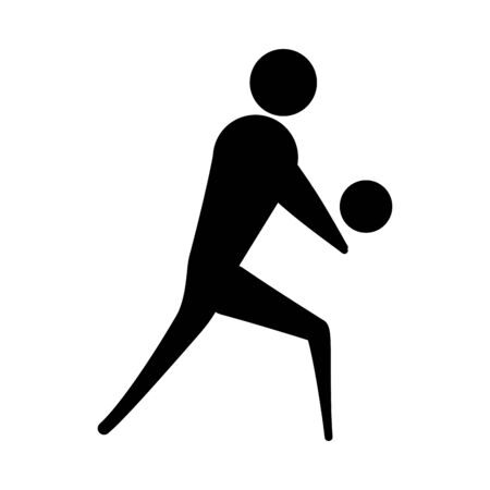 Avatar doing sport flat vector design 向量圖像
