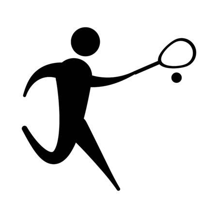 Avatar doing sport flat vector design Ilustração