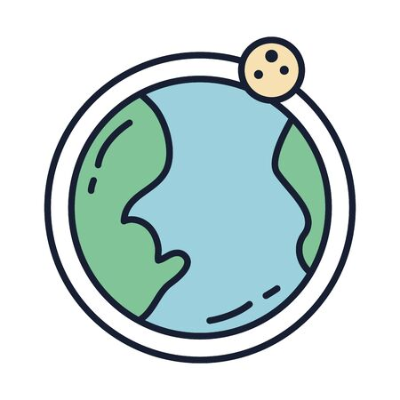 Isolated world sphere fill vector design