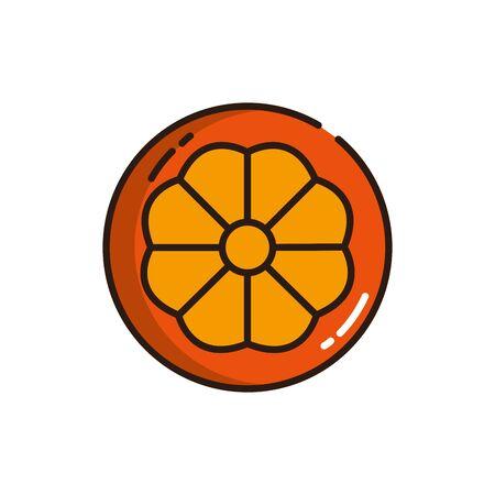 Isolated orange icon fill vector design
