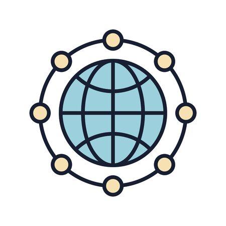 Isolated global sphere fill vector design