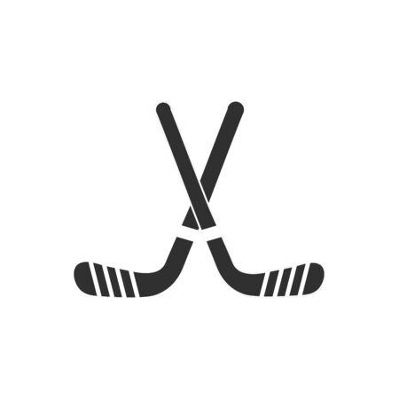 Isolated hockey stick flat vector design Ilustração
