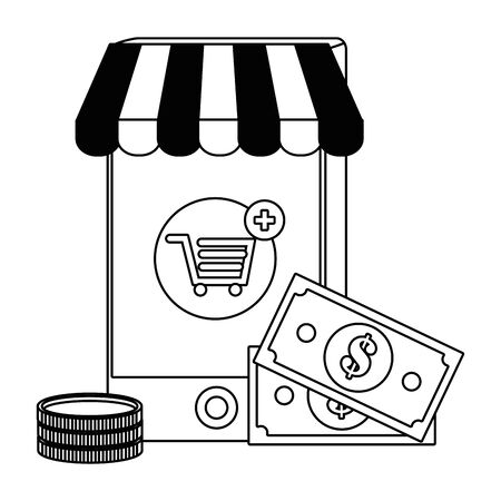 Shopping online icon design