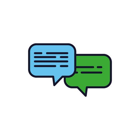 Isolated communication bubble icon fill design