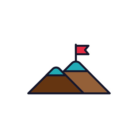 Isolated mountain icon fill vector design