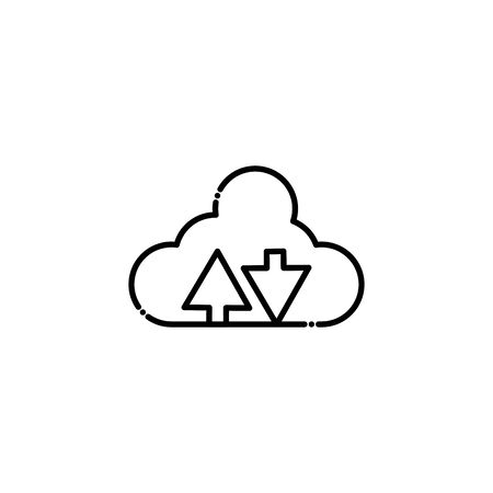 Cloud computing design, Storage technology virtual electronic network and media theme Vector illustration