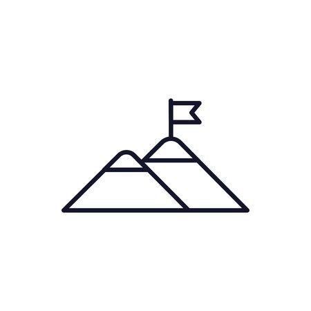 Isolated mountain icon line vector design Çizim