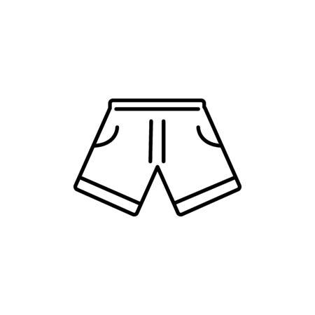 short clothing summer icon line illustration design