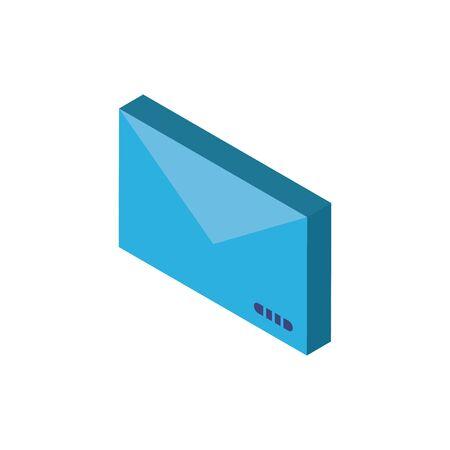 Digital envelope isometric icon vector design