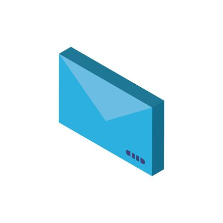 Digital envelope isometric icon vector design