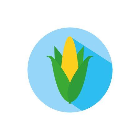 Isolated wheat ear icon block vector design Illusztráció