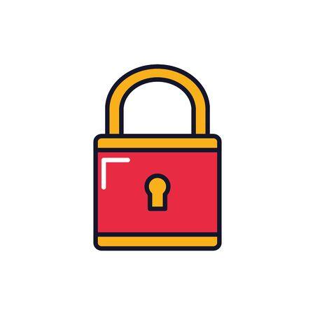Padlock design, security lock access safe secret protection and steel theme Vector illustration Ilustracja