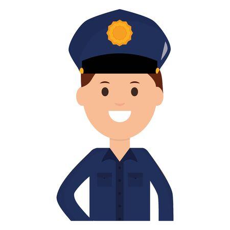 police officer avatar character vector illustration design Ilustração