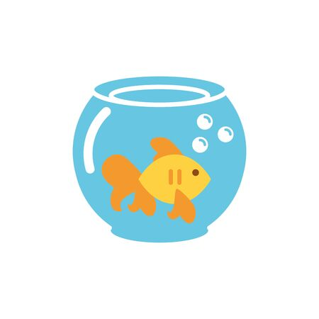 Isolated fish icon flat vector design
