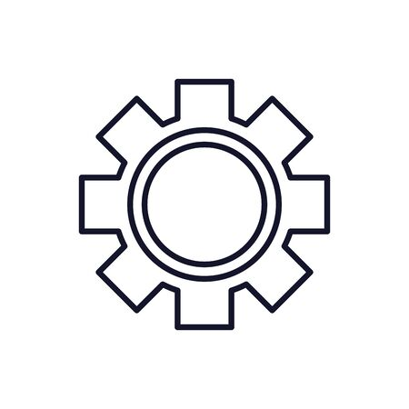 Isolated gear icon line vector design Фото со стока - 132119232