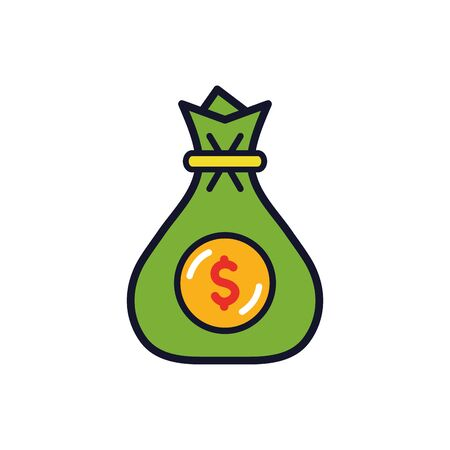 Isolated money bag icon fill vector design 向量圖像