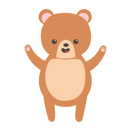 cute brown bear character cartoon