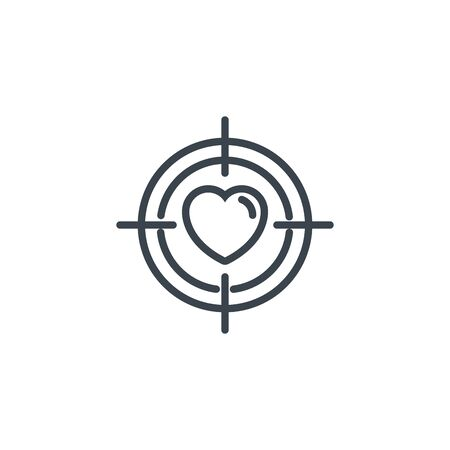 heart focus vision icon line design 向量圖像