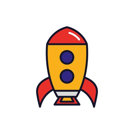 Isolated rocket icon fill vector design