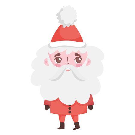 cute santa claus character happy christmas vector illustration Çizim