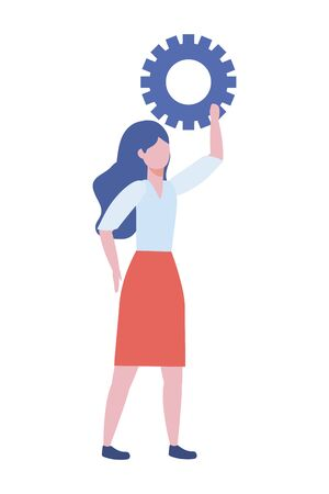 Businesswoman avatar cartoon design vector illustration Illusztráció